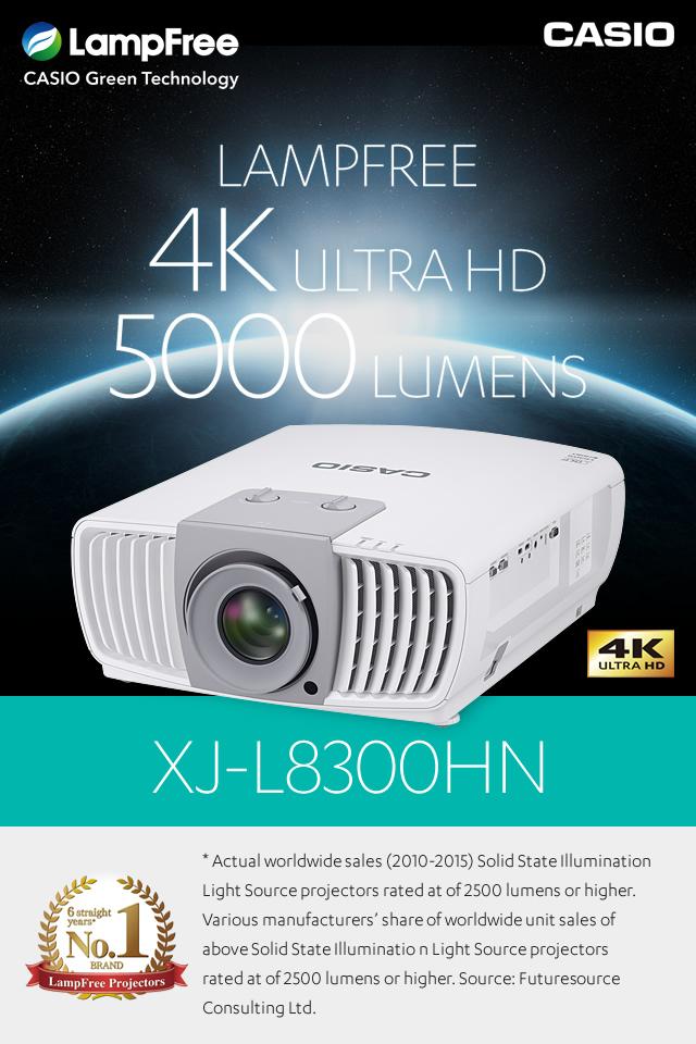 LampFree Projector 4K ULTRA HD 5000 LUMENS   CASIO